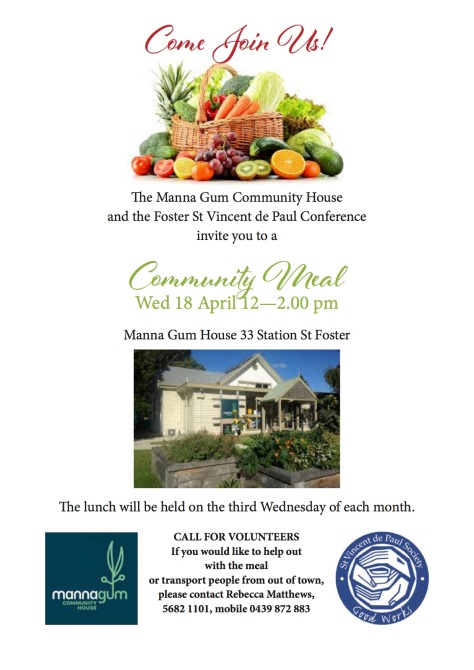 Community meal flyer colour